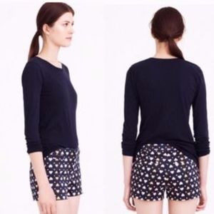 J. Crew Heart Dot Print Chino Shorts